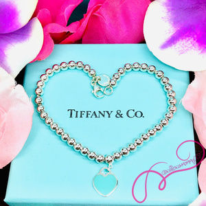 "NWOT T&Co. Return to Tiffany Bead Bracelet, 7.25"""